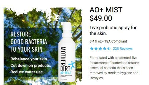 Mother Dirt Mist Restore good bacteria Cleansing Without removing good bacteria Moisturising