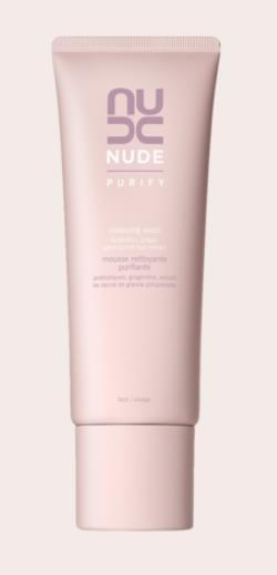 Nude Cleanser Purify Cleansing Wash A balancing foaming wash that removes impurities without drying skin.