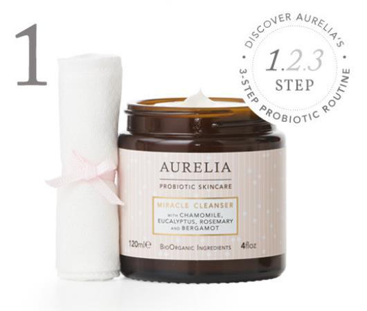 Aurelia Cleanser Serum Miracle Cleanser STEP 1: Remove all traces of make-up, daily grime and pollution This gentle cream cleanser supports the skin s natural barrier with nourishing botanicals