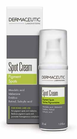 Helps reduce the appearance of pigment spots and decreases melanin content.