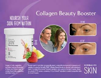 MEMBER INFORMATION Collagen Beauty Booster For women and men Formulated with Verisol * collagen, which has been tested to show support of skin elasticity and the reduction of fine wrinkles (4 to 8