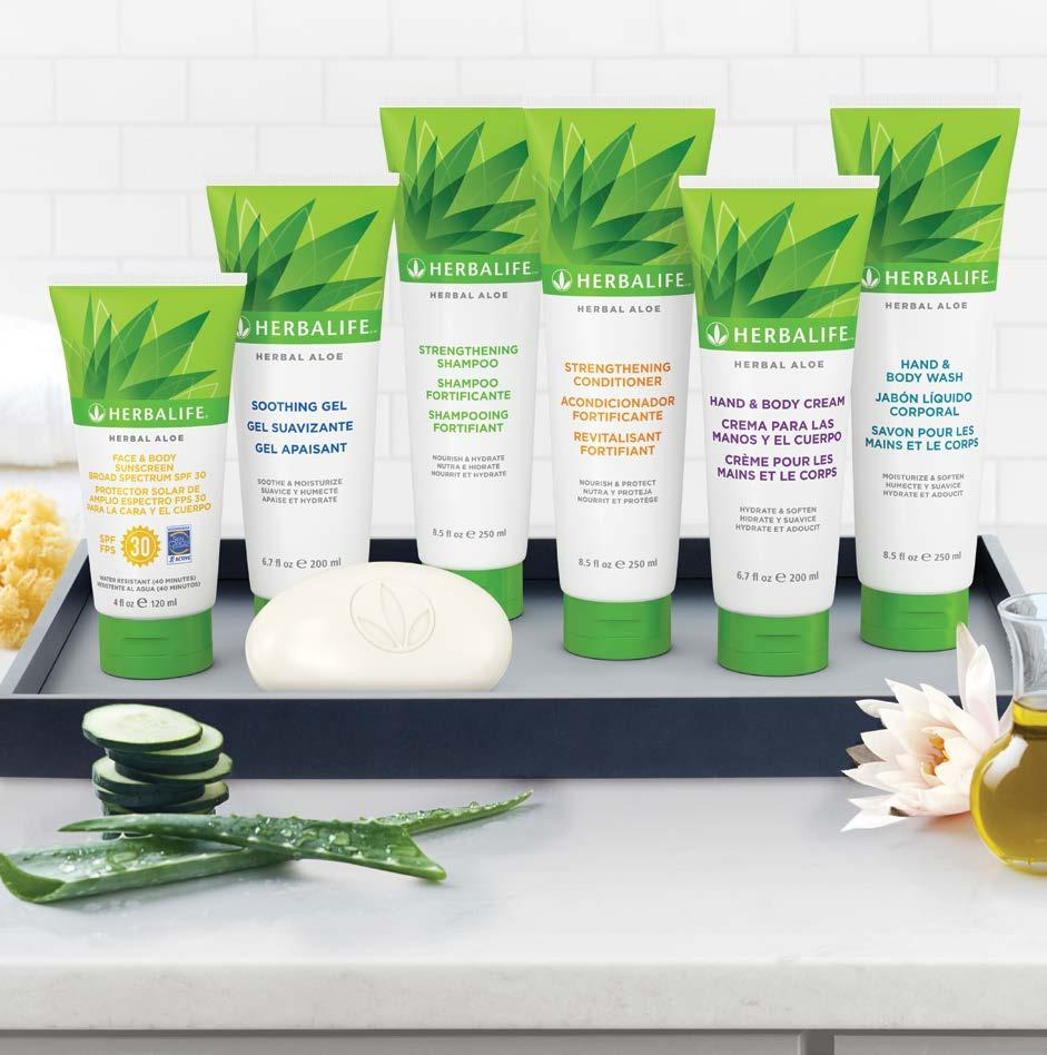 Cleanse, Moisturize and Rejuvenate Pamper your skin and hair with the benefits of Herbal Aloe.