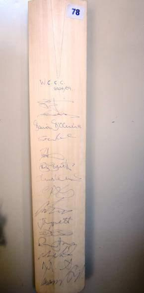 signed by members of Worcestershire County