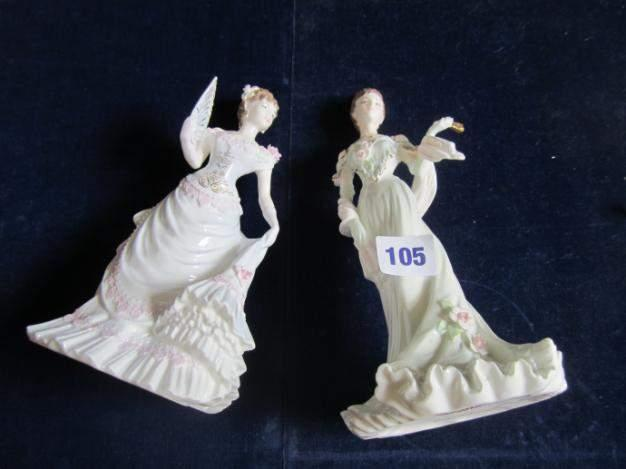 "Fashion ""Collection 104 2 Coalport figurines - ""Lillie Langtry"""