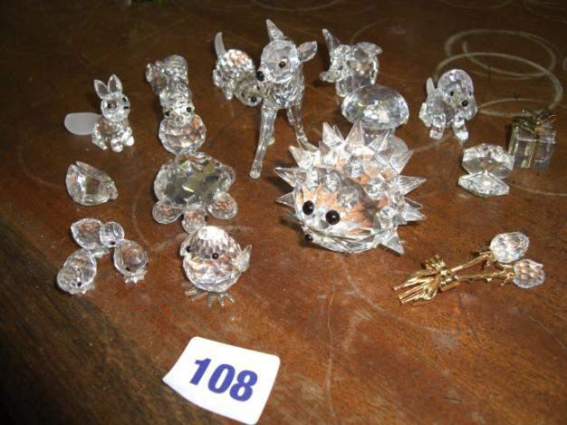 floral ornaments 107 Collection of Swarovski animals inc
