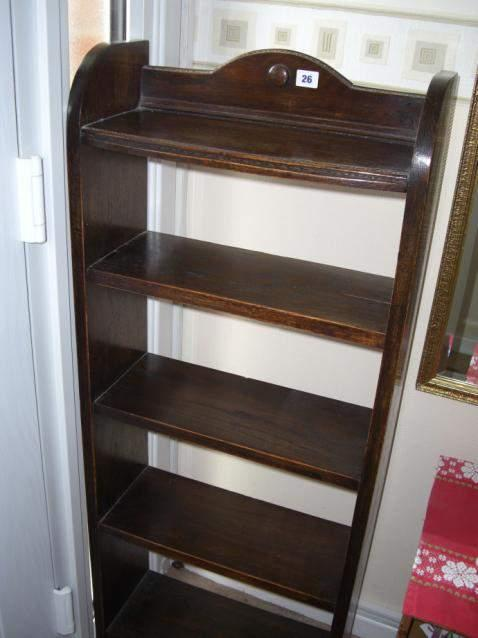 Oak bookcase with 4