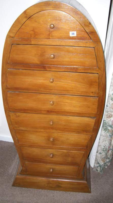 fish shaped chest of 8 drawers 38