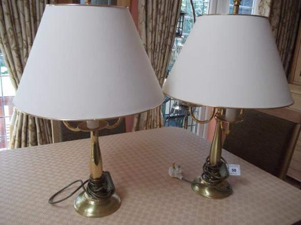 brass table lamps 50 Large silver