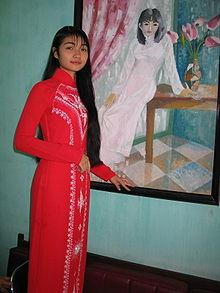 Eastern culture Vietnamese wedding Ao dai Many wedding dresses in China, India (wedding sari) and Vietnam (in the traditional form of the Ao dai) are colored red, the traditional color of good luck