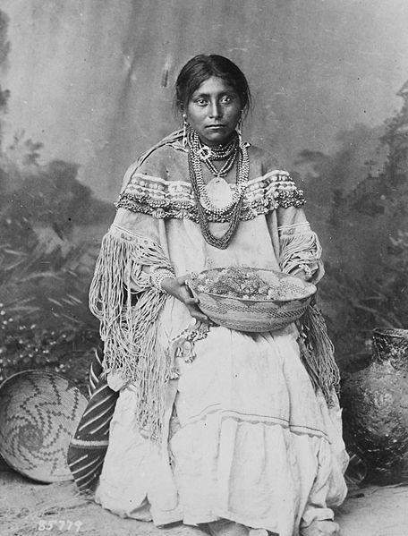 Native American culture Apache bride The indigenous peoples of the Americas have varying traditions related to weddings and thus wedding dresses.