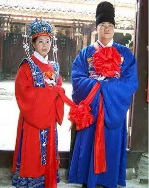 Chinese couple wearing