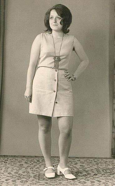 Upper garments, such as rugby shirts, were sometimes adapted as mini-dresses. With the rise in hemlines, the wearing of tights or pantyhose, in place of stockings, became more common.