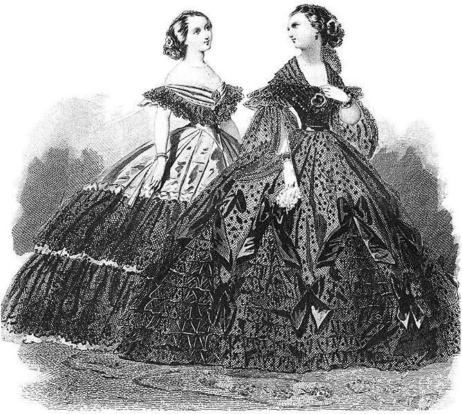 Chapter 10 Ball Gown & Debutante Dress Ball Gown Ball gowns of the 1860s A ball gown is worn for ballroom dancing and only the most formal social occasions according to
