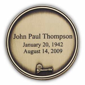 Actual Size 1 3 4 Engraved Keepsake Medallion Each keepsake includes three lines of engraving at no additional cost.