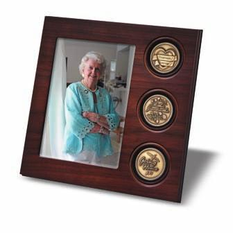 The small case holds a single keepsake medallion, while the large case is designed to display three keepsake medallions.