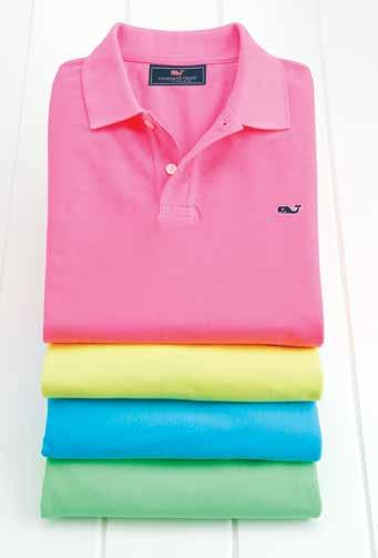 Neon: Start your day bright Men s slim-fit Neon Garment-Dyed polo (1K0415): 100% cotton. Imported. $79.50.