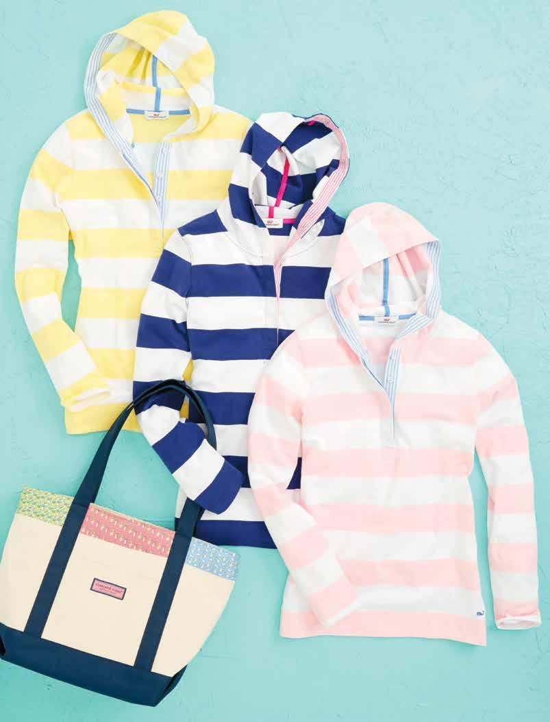 Ready, set, Sail RUGBY STRIPE HOODIE (K033): 93% cotton, 7% spandex jersey. Imported. $98.