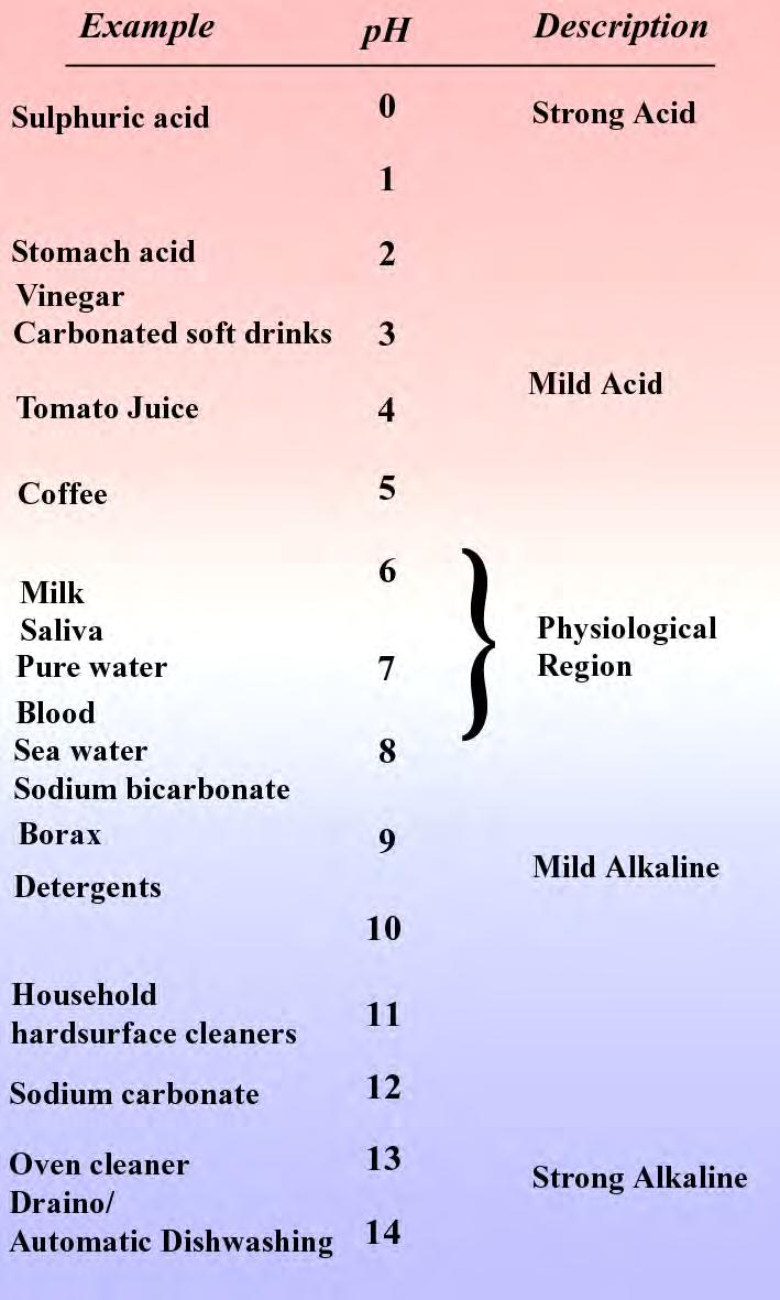 22 The ph Scale A mildly High or Low ph of a solution does not make it