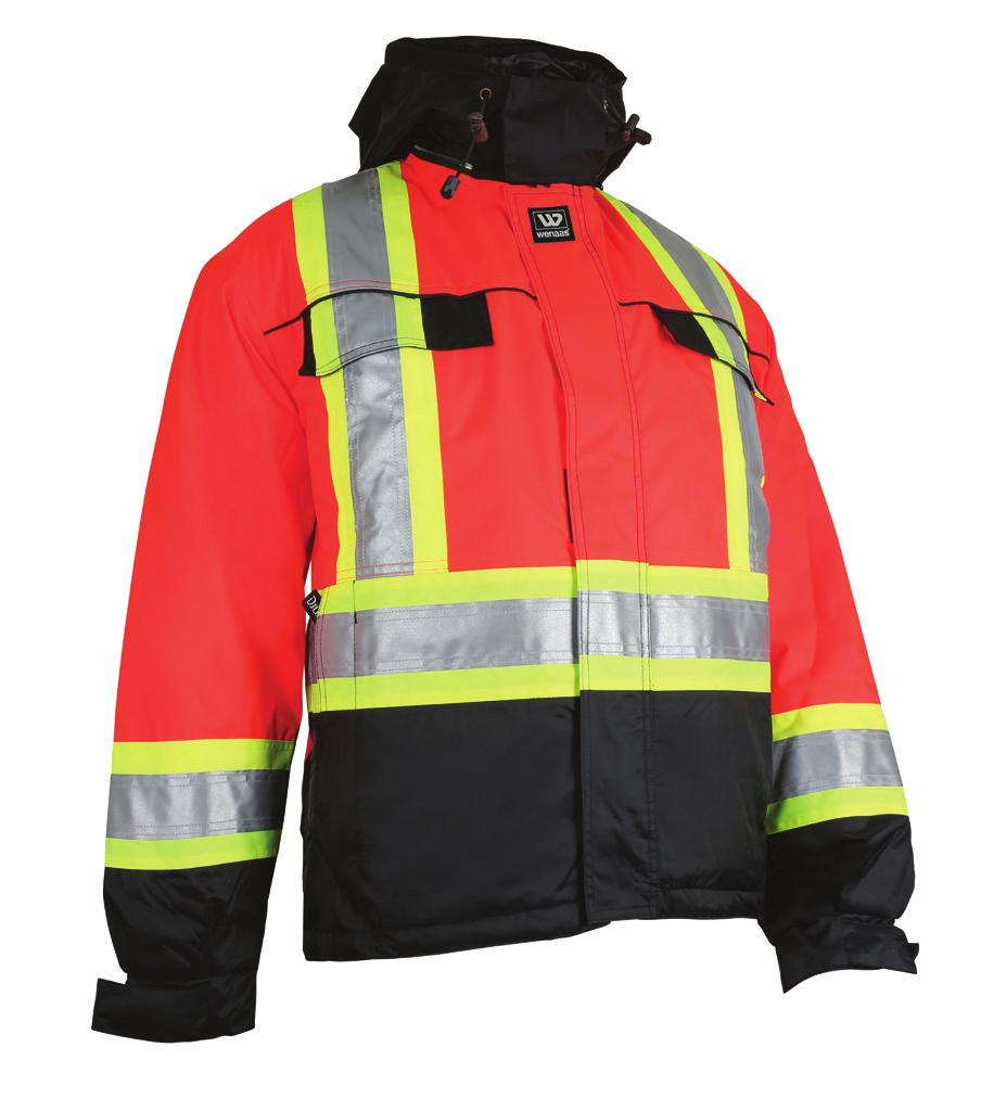 CSA COMPLIANT HIVIS + THERMAL WENAAS HIVIS QUILTED JACKET Model No.