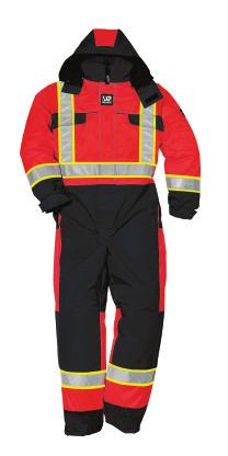 CSA COMPLIANT HIVIS + THERMAL WENAAS HIVIS QUILTED COVERALL