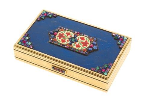 Doris Duke s Jewelry from the 1930s 41. Lapis and gem-set vanity case Cartier, New York no.