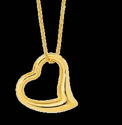 $119 Open Heart Drop 2 Tone Gold