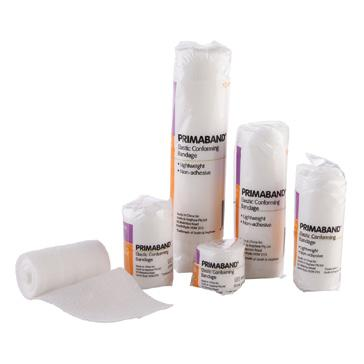 Comprehensive wound management PRIMABAND Elastic Conforming Bandage A retention bandage suitable for high-movement areas such as joints.