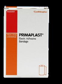 Comprehensive wound management PRIMAGAUZE Elastic Cohesive Bandage A cohesive retention bandage suited to areas which are highly mobile and difficult to dress.