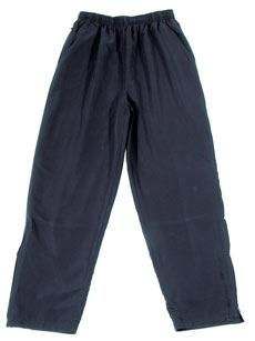 Microfibre Straight Leg Track Pants with Zips in Legs (green only) $25.