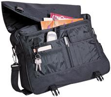 Multiple accessory pockets, large zippered compartment,