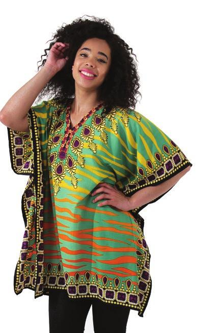 three of our newest dashikis in this