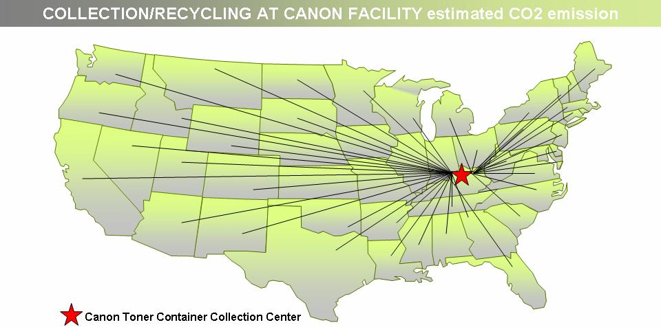 When local recycling or energy recovery facilities aren t able to take Canon toner containers, Canon gives customers the