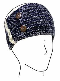 00 Hand Knit Headband w/button