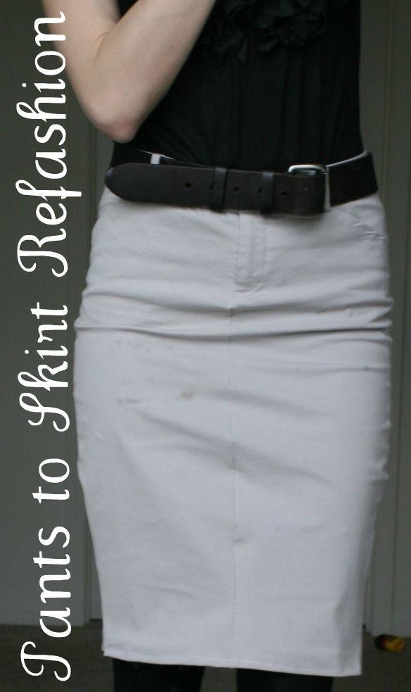 Do you have some pants that don t fit quite right? Make a skirt!