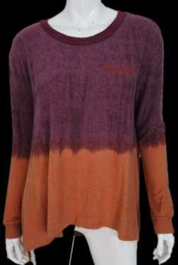 "S9711-RUST/BURGUNDY DIP DYE ""MOON"
