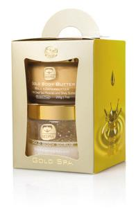Gold Spa Kit A set of Gold Salt Scrub and Gold Body Butter for