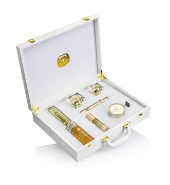 Contains Gold Hand Cream that moisturizes your skin without the greasy