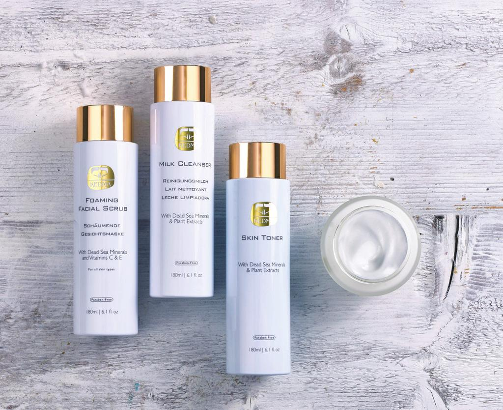 FACE KEDMA FACIAL CARE Kedma Facial Care line for daily and weekly treatments energizes your skin with new vitality, instantly improving its look, feel and