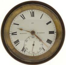 a coin silver, hinged back and bezel open face case, and Roman numeral, single sunk white enamel dial, plum colored Breguet style hands, serial #7174, 55mm, c1870. 755 759 Chelsea Clock Co.