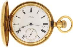 double sunk white enamel dial, blued steel spade hands, serial #325620, 95.8g TW, c1905. $1300-$1600 1035 Illinois Watch Co.