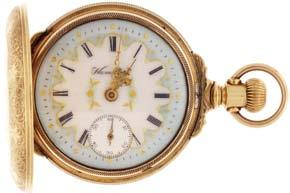 , Elgin, Illinois, for the Royal Canadian Navy, 16 size, 17 jewels, stem wind and set, damascened gilt plate movement with lever escapement and Moseley micrometric regulator in a base metal, screw