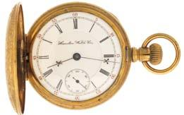 regulator in a 14 karat, yellow gold, hinged back and bezel open face case with monogram on rear cover, and Arabic numeral, single sunk metal dial, blued steel hands, serial #4773478, 62.1g TW, c1925.