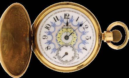 1158 Pocket watches- 5 (Five): The first an 18 size Fredonia, 15 jewel gilt movement, Roman numeral white enamel dial, coin silver open face case, serial #3251, the next a South Bend 411, 16 size, 17
