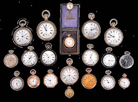 including Longines, Tobias, Perret, Omega, Jacot, and others, movements with lever escapements, metal and enamel dials, nickel, silver, and gun metal cases 1178 Pocket watches- 16 (Sixteen): All