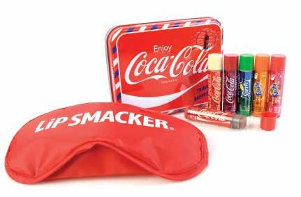 Lip Smacker Coke Airmail Tin The authentic taste of your favourite beverage flavours in lip balms that are as good for your lips as they taste.