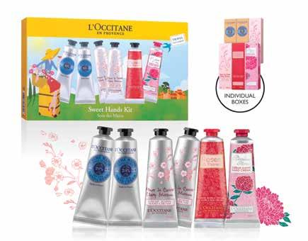 26 BEAUTY WORLD 32. L Occitane Sweet Hands Kit (6 x 30ml) Soften your hands with these must-have creams from L Occitane for moisturized and delicately perfumed hands.