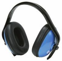 Padded ear defenders with headband - blue CE / EN 352-1 With adjustable and padded ear shells for comfortable wear Ear shells with stepless fast adjustment Sound level reduction: 25