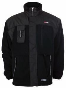 black With reinforced patches Zip fastener with cover Shell material: 100% Polyester Antipilling fleece Inside lining: 100% Polyester 13 14