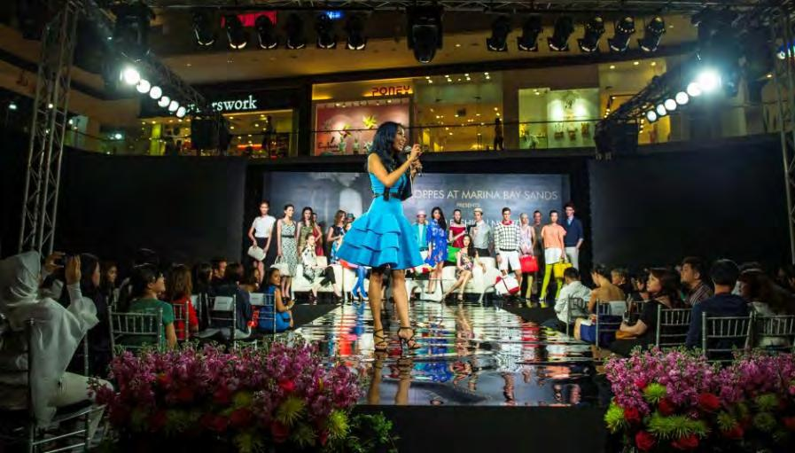 The luxurious night of irresistible shopping treats complete with complimentary champagne, live groovy beats and fashion shows saw more than 90 retailers participate, some offering up to 70% savings