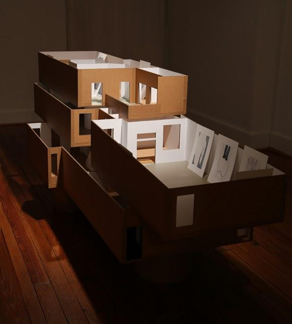 The studio-based pieces likewise reference this early body of work from my first exhibition. That early work included a series of small scale models of houses or spaces I had lived in.
